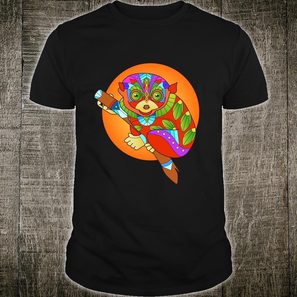 Ethnic Tarsier Boho Mandala Yoga Shirt
