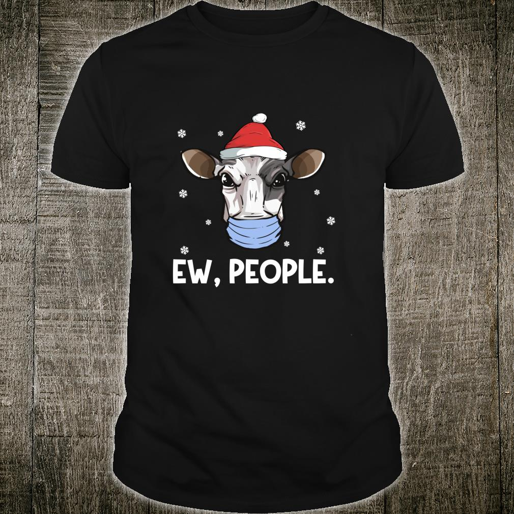 Ew People Milk Cow Santa Dairy Farmer Christmas Shirt