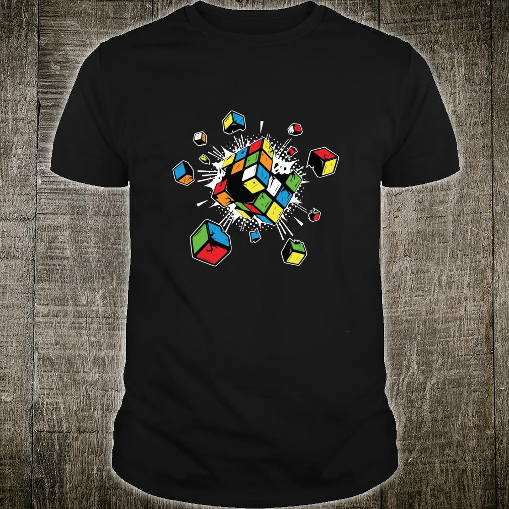 Exploding Rubix Rubiks Rubics Cube for Shirt
