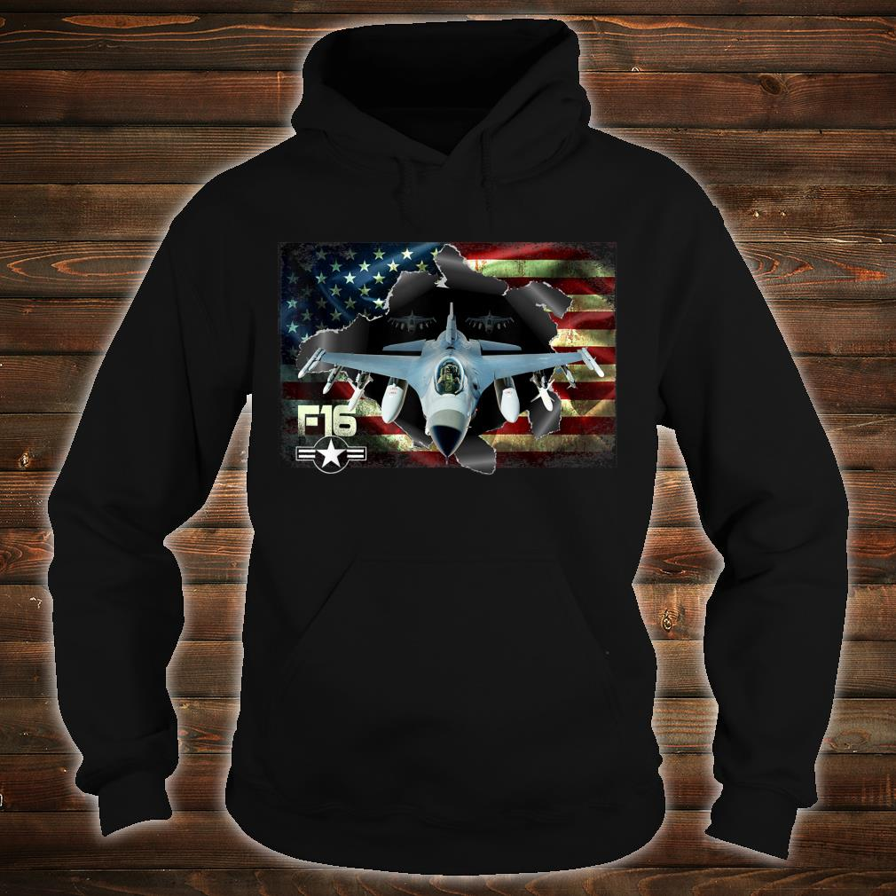 F16 Fighting Air Force Military Veteran Pride US FlagUSAF Shirt hoodie