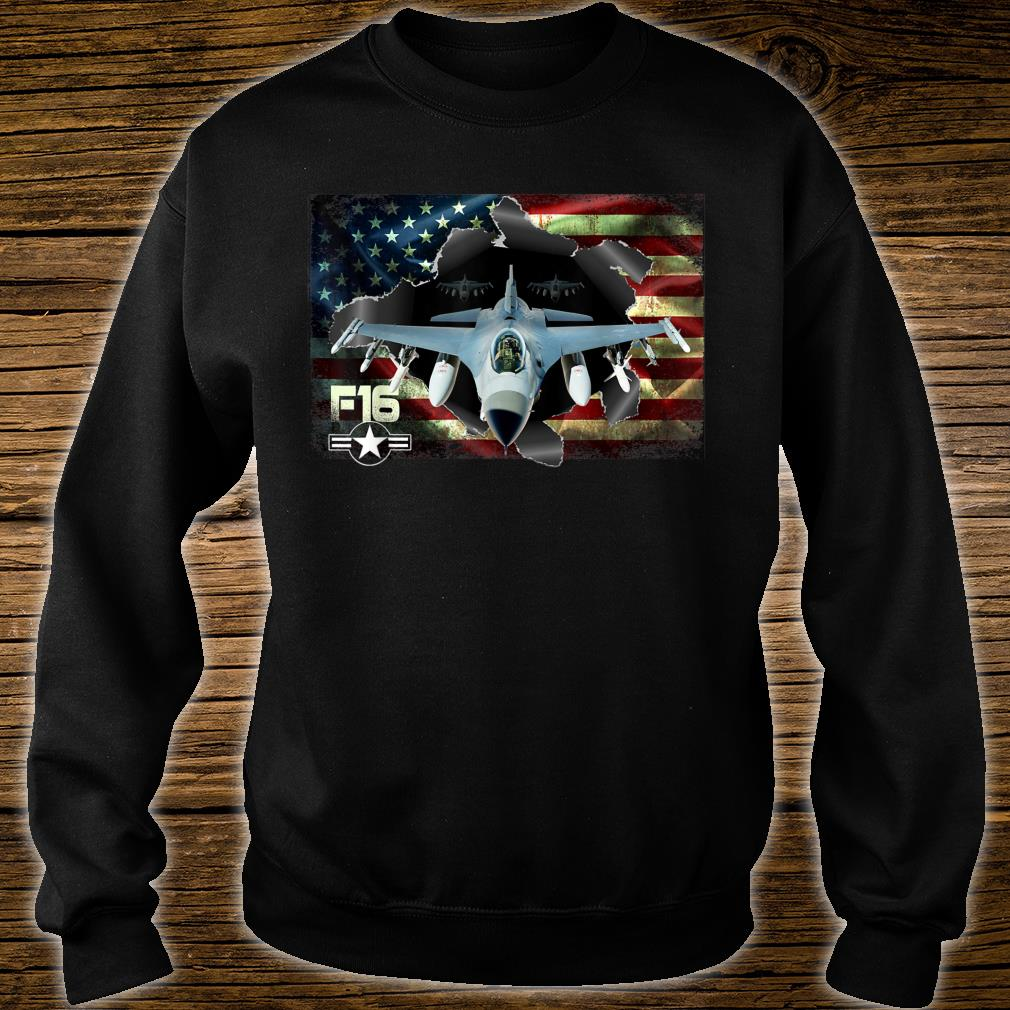F16 Fighting Air Force Military Veteran Pride US FlagUSAF Shirt sweater