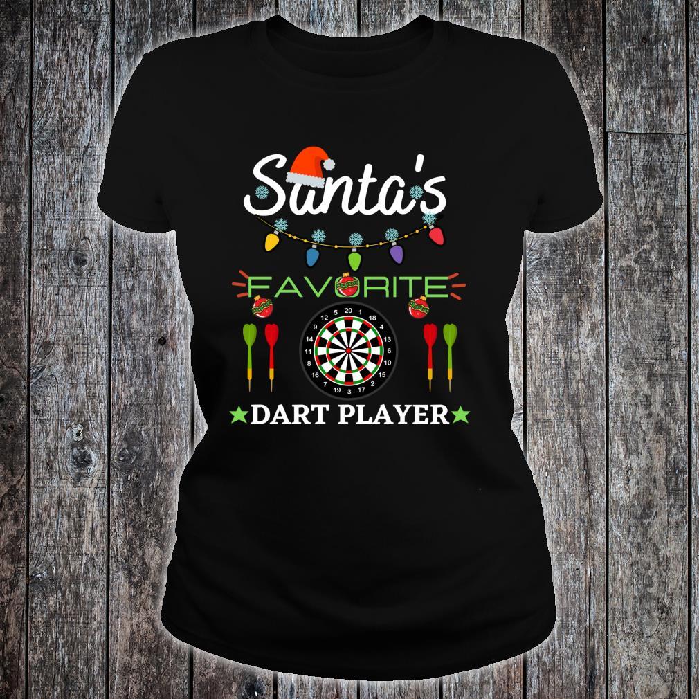 FUNNY DART PLAYER DARTBOARD DART GAME DARTS CHRISTMAS Shirt ladies tee