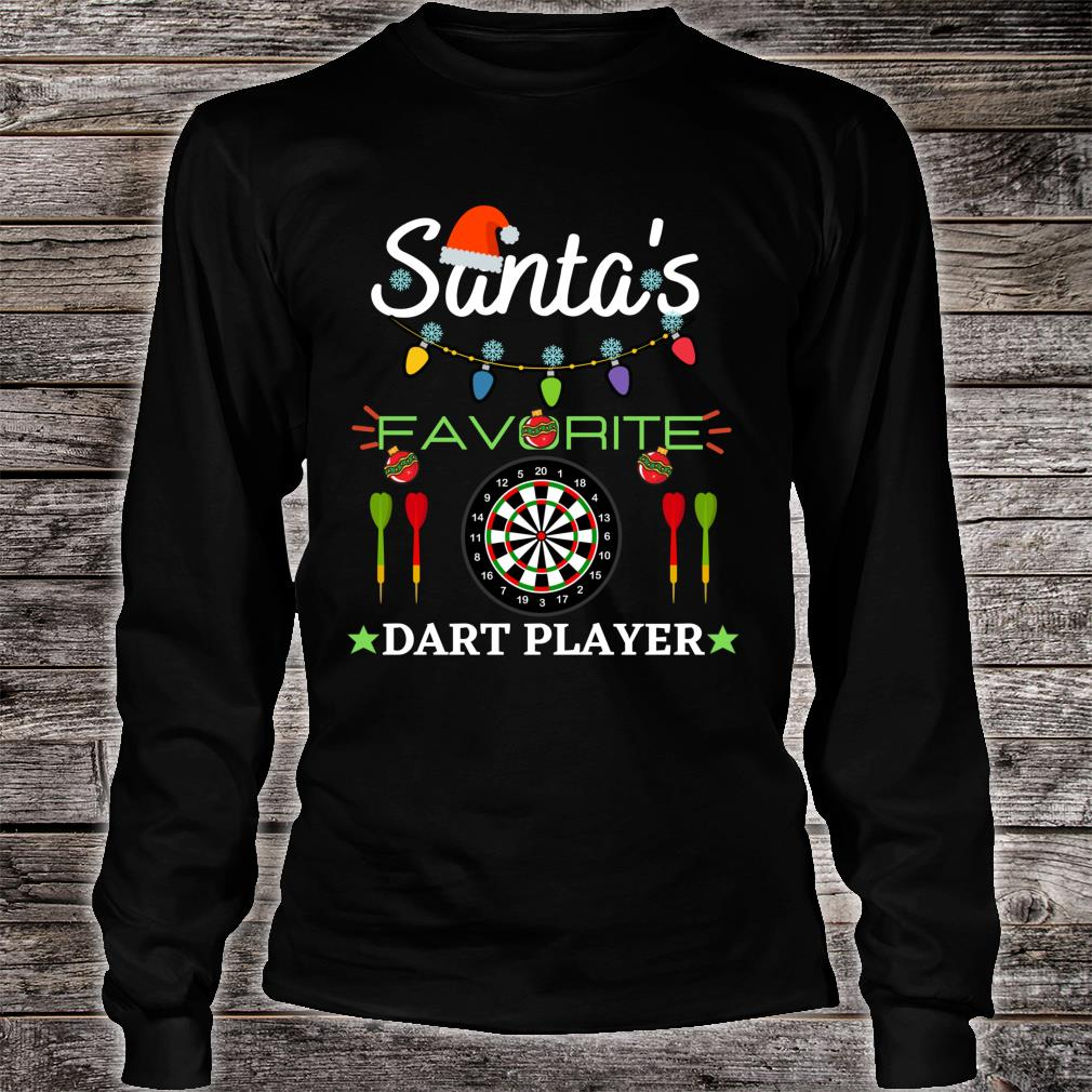 FUNNY DART PLAYER DARTBOARD DART GAME DARTS CHRISTMAS Shirt long sleeved
