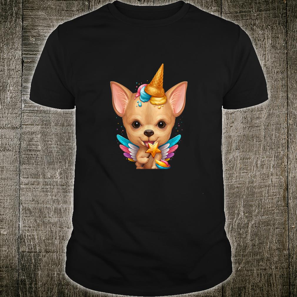 Fawn Smooth Coat Chihuahua Ice Cream Unicorn Shirt