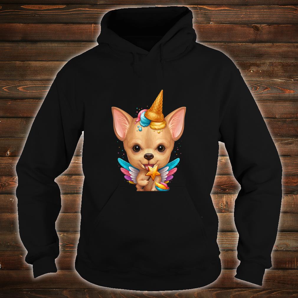 Fawn Smooth Coat Chihuahua Ice Cream Unicorn Shirt hoodie