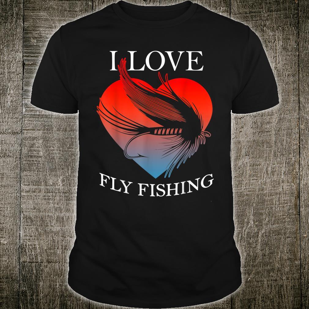 Fliegenfischen bei Sonnenuntergang Cool Vintage Retro Dist Shirt