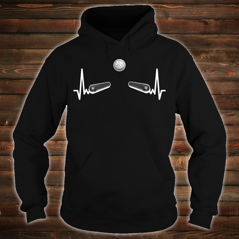 Flipper Flipperautomat Arcade Game EKG Spieleautomat Pinball Shirt hoodie