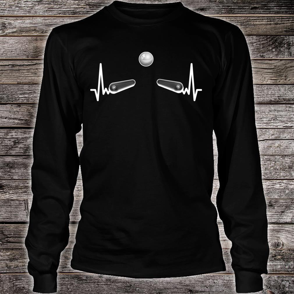 Flipper Flipperautomat Arcade Game EKG Spieleautomat Pinball Shirt long sleeved