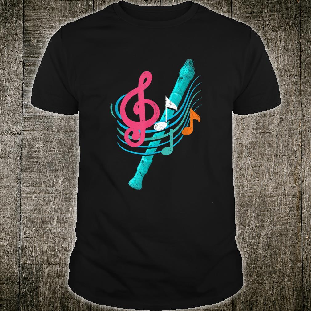 Flöten Melodie Geschenk Flötenspieler Shirt