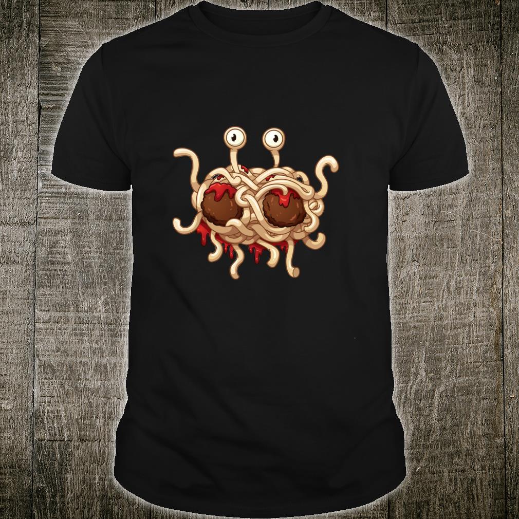 Flying Spaghetti Monster Meatball Pastafarianism Logo Fun Shirt