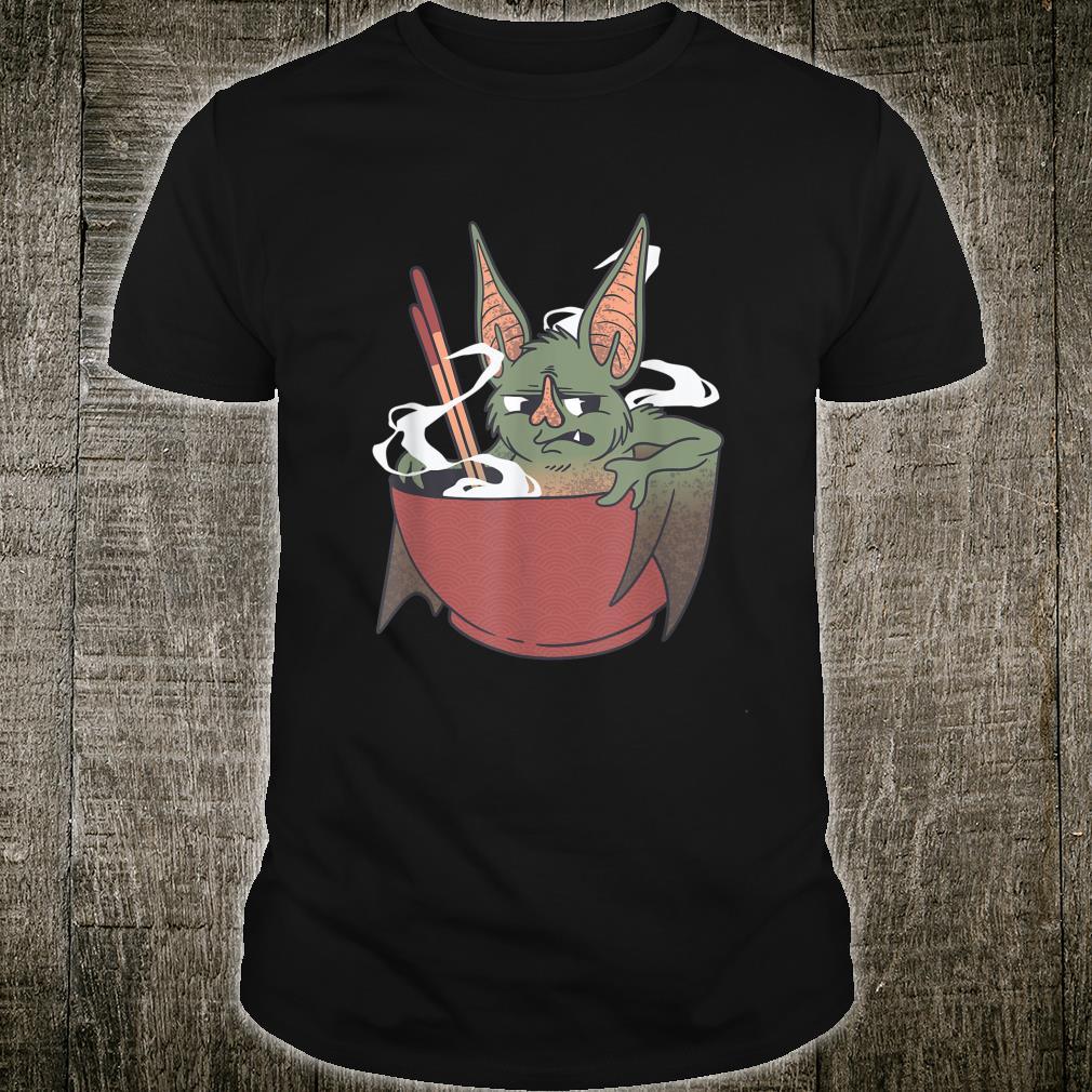 Food Bowl Chopsticks Chinese Bat Cartoon Chop Suey Cooking Shirt
