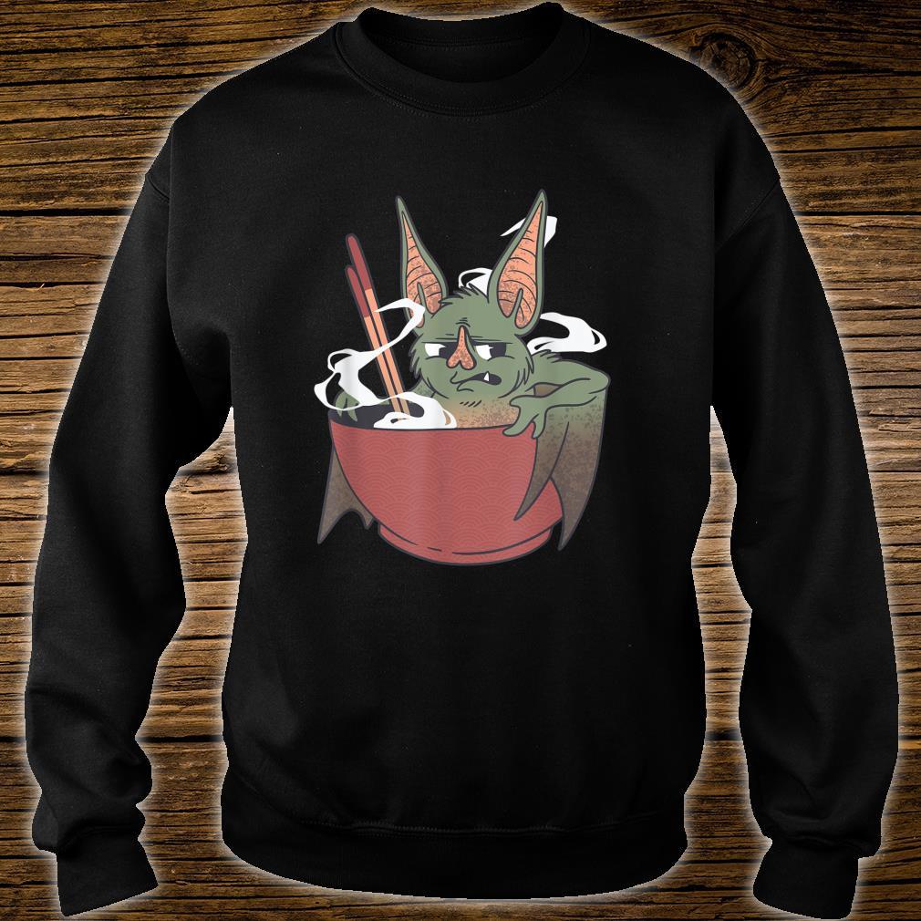 Food Bowl Chopsticks Chinese Bat Cartoon Chop Suey Cooking Shirt sweater