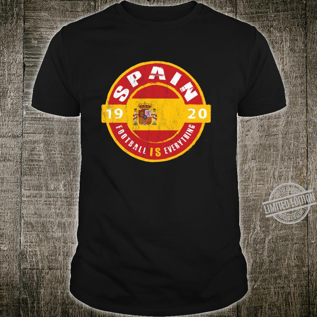 Football Is Everything Spain Flag Europe Vintage Shirt