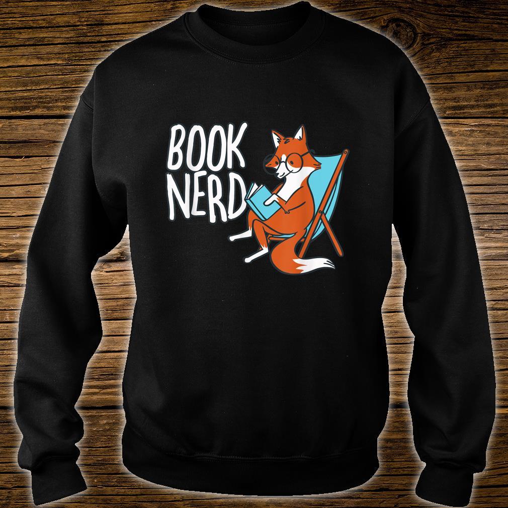 Fox Book Reading Retro Nerd Librarian Boys Girls Shirt sweater