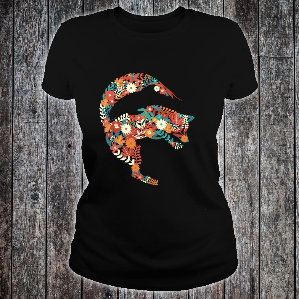 Fox Flower Stylish Fox Shirt ladies tee