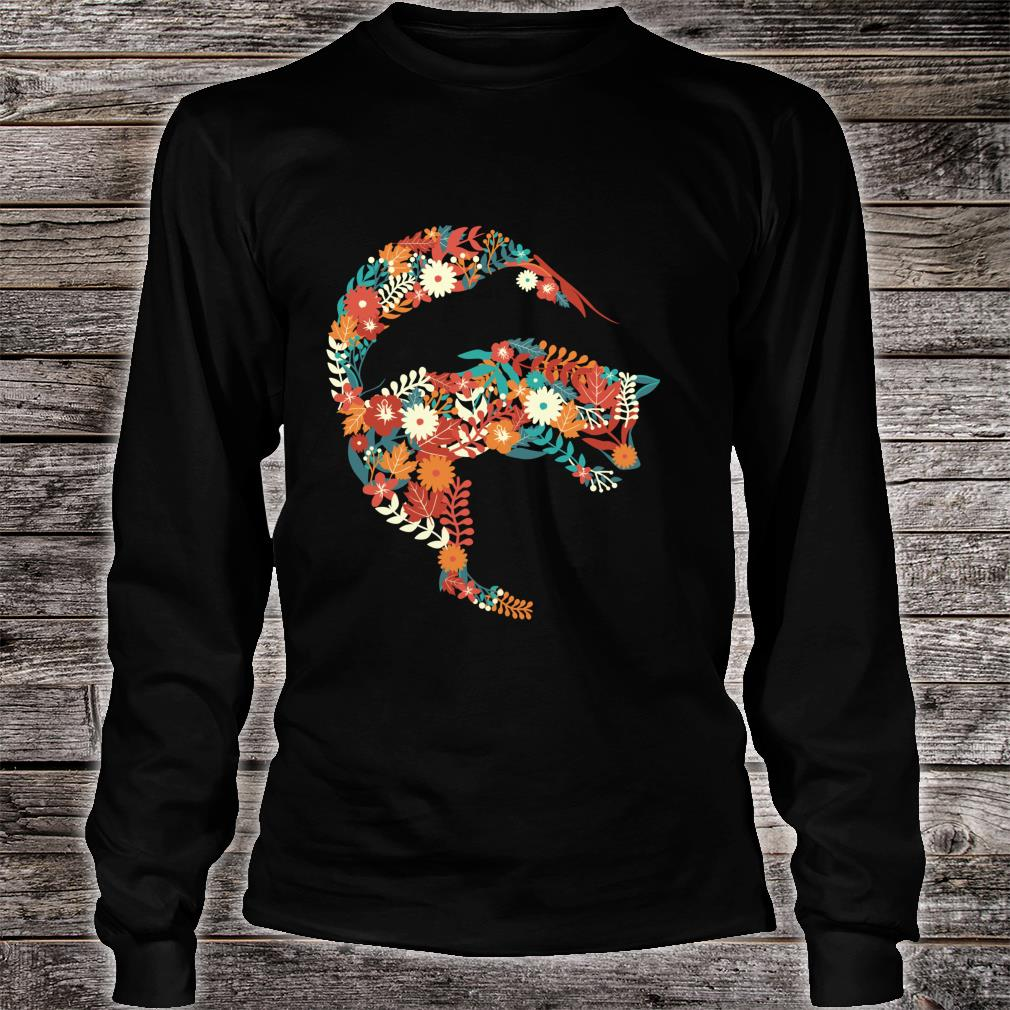 Fox Flower Stylish Fox Shirt long sleeved