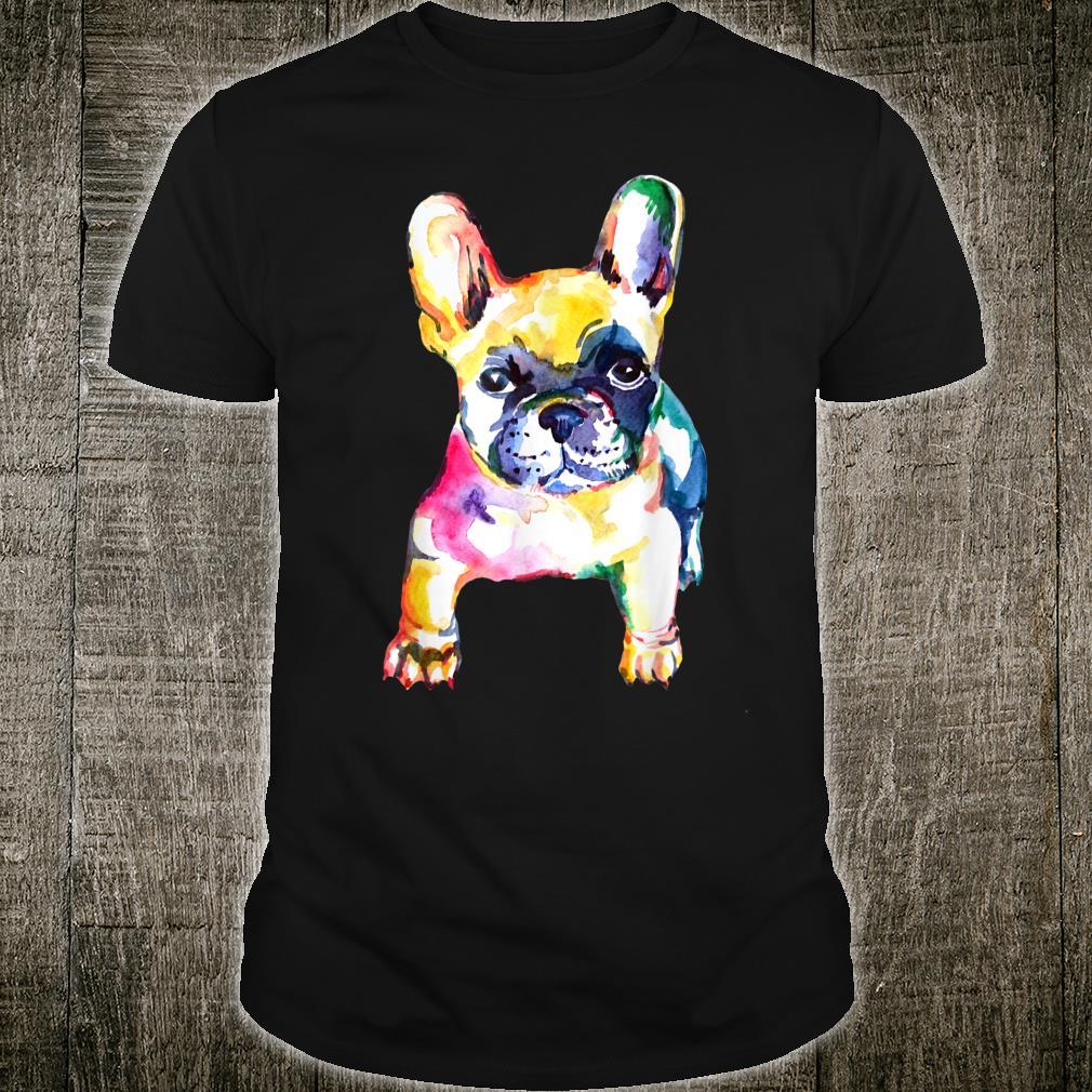 French Bulldog Original Watercolor Hand Drawing Shirt