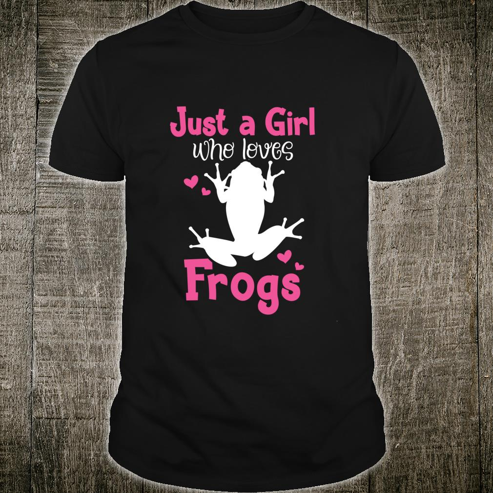Frog Girl Frog Lady Novelty Themed Shirt