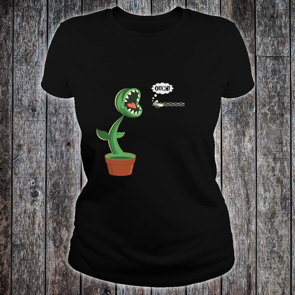 Funny Carnivorous Plants Venus Fly Trap Eating Fly Botanical Shirt ladies tee