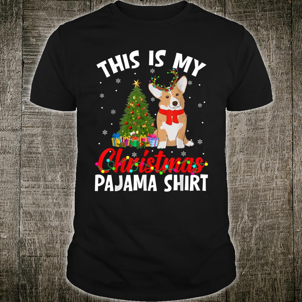 Funny Corgi Xmas Pajama Shirt Dog Dad Dog Mom Shirt