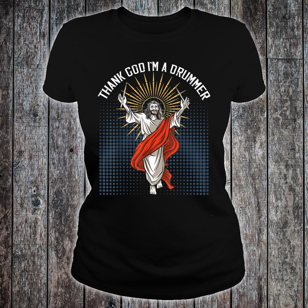 Funny Drummer Heavy Metal Band Rock Music Shirt ladies tee