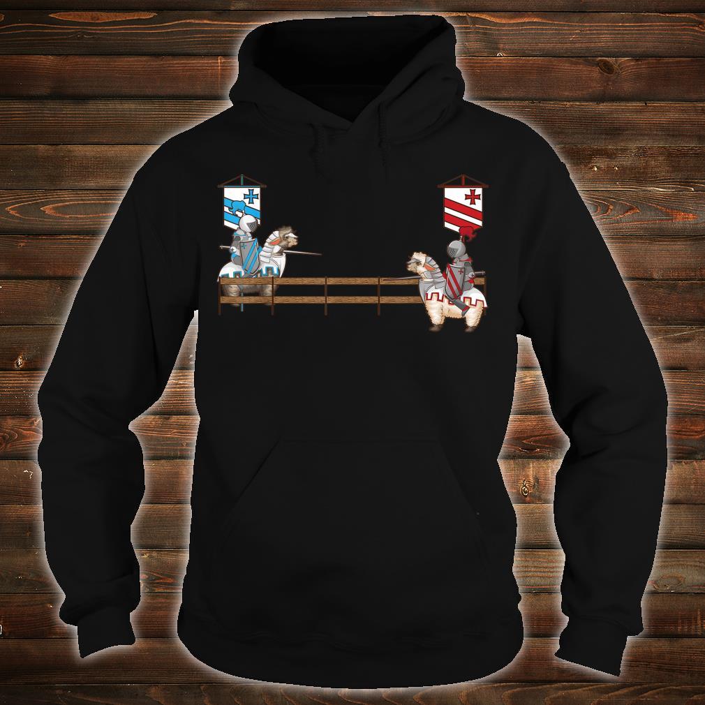 Funny Llama Jousting Cool Medieval Knight Alpaca Fan Shirt hoodie