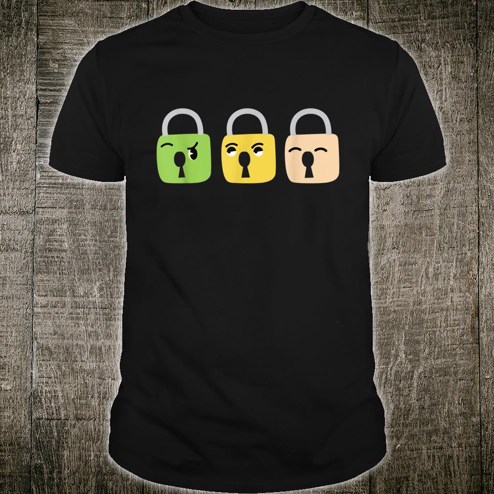 Funny Lock Emotions Locksmith Keys Locksmiths Shirt
