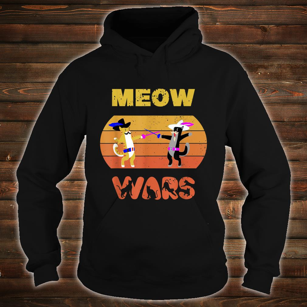 Funny Meow Wars Vintage Cat The Cat Father Shirt hoodie