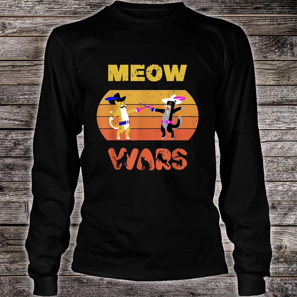 Funny Meow Wars Vintage Cat The Cat Father Shirt long sleeved