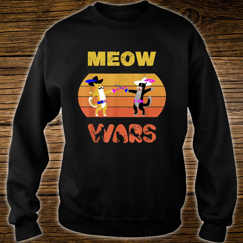 Funny Meow Wars Vintage Cat The Cat Father Shirt sweater
