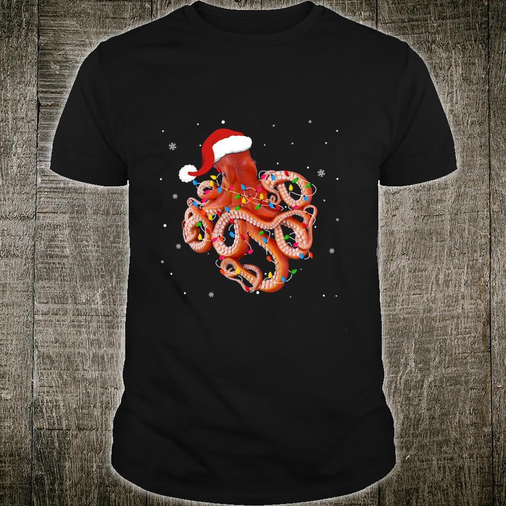 Funny Octopus Christmas Light Apparel Cute Xmas Idea Shirt