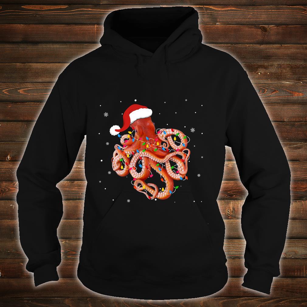 Funny Octopus Christmas Light Apparel Cute Xmas Idea Shirt hoodie