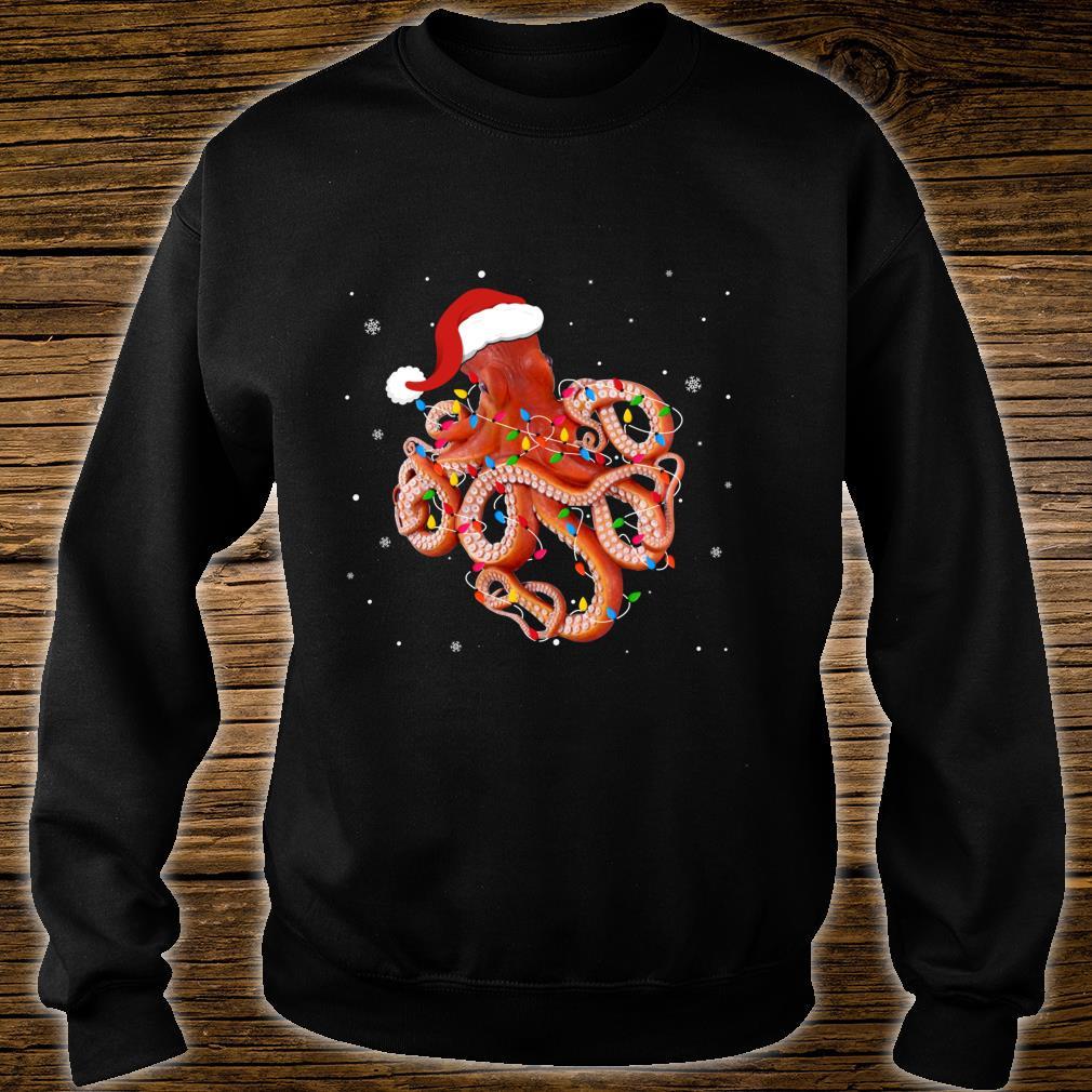 Funny Octopus Christmas Light Apparel Cute Xmas Idea Shirt sweater