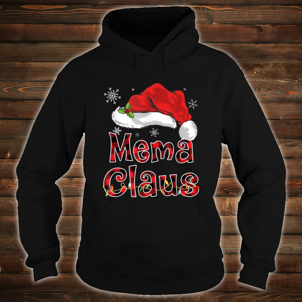 Funny Santa Mema Claus Red Plaid Christmas Family Shirt hoodie