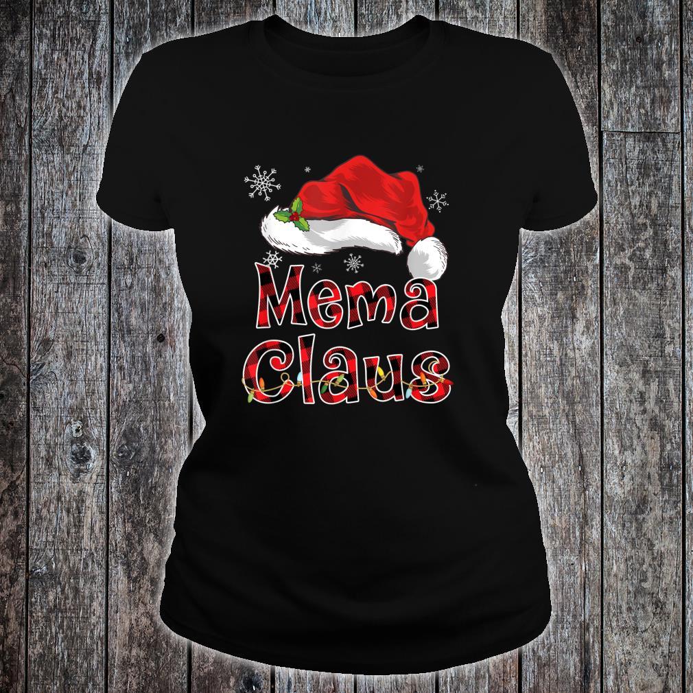 Funny Santa Mema Claus Red Plaid Christmas Family Shirt ladies tee