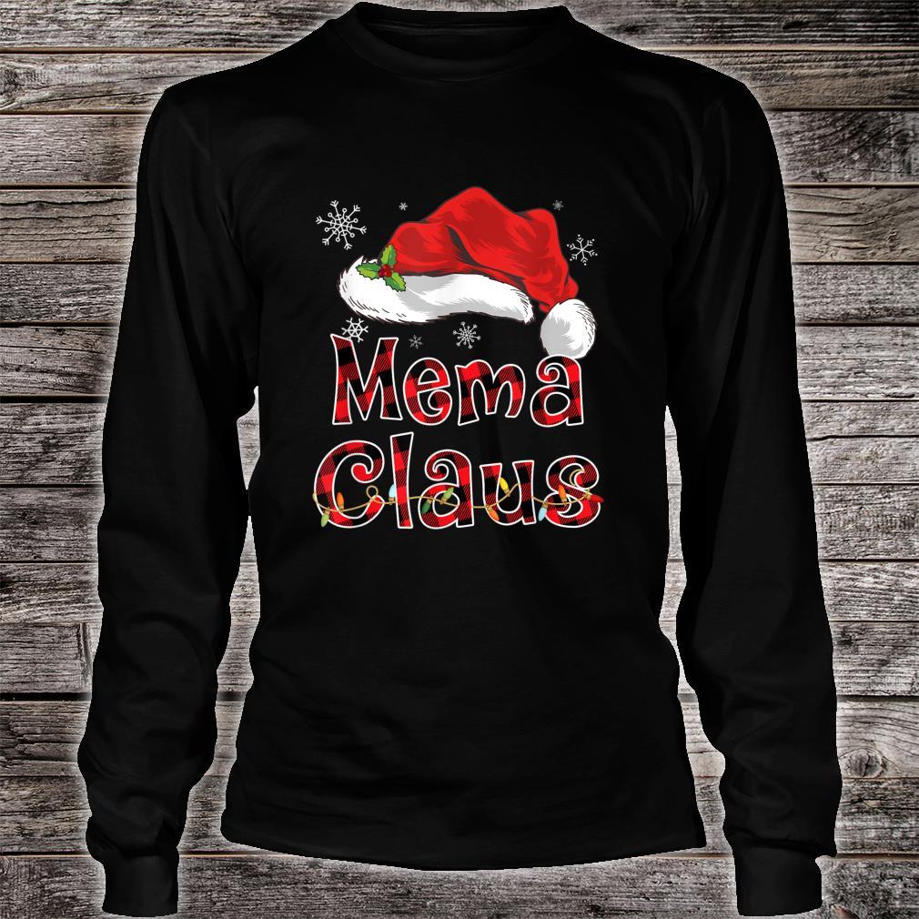 Funny Santa Mema Claus Red Plaid Christmas Family Shirt long sleeved