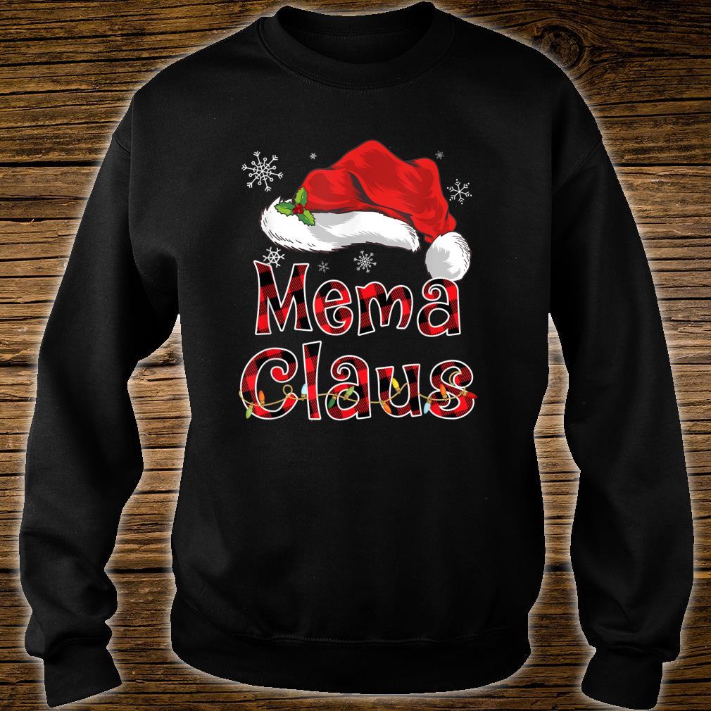 Funny Santa Mema Claus Red Plaid Christmas Family Shirt sweater