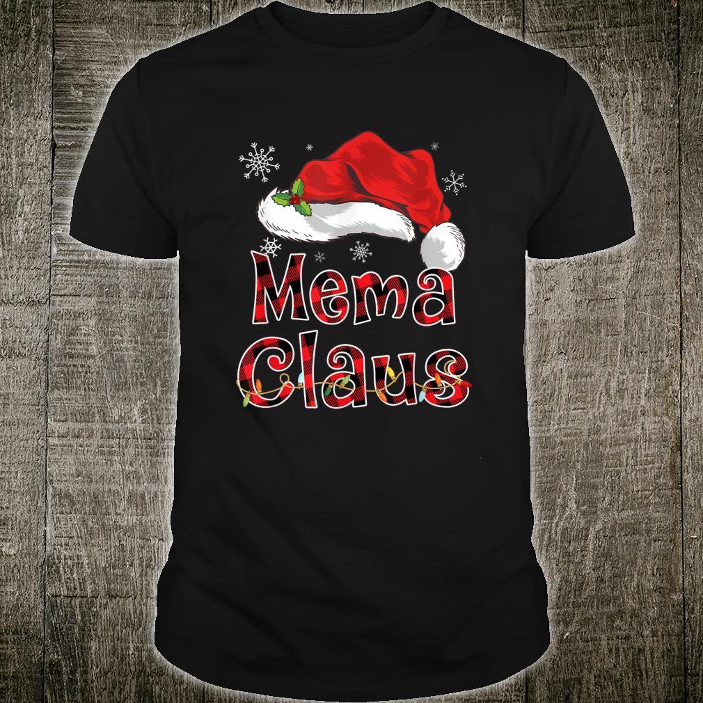 Funny Santa Mema Claus Red Plaid Christmas Family Shirt