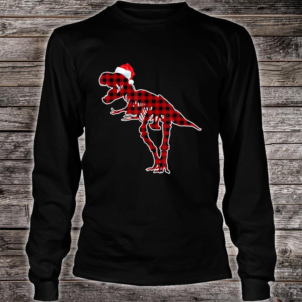 Funny Skeleton Dinosaur Christmas Pajamas T Rex Xmas Shirt long sleeved