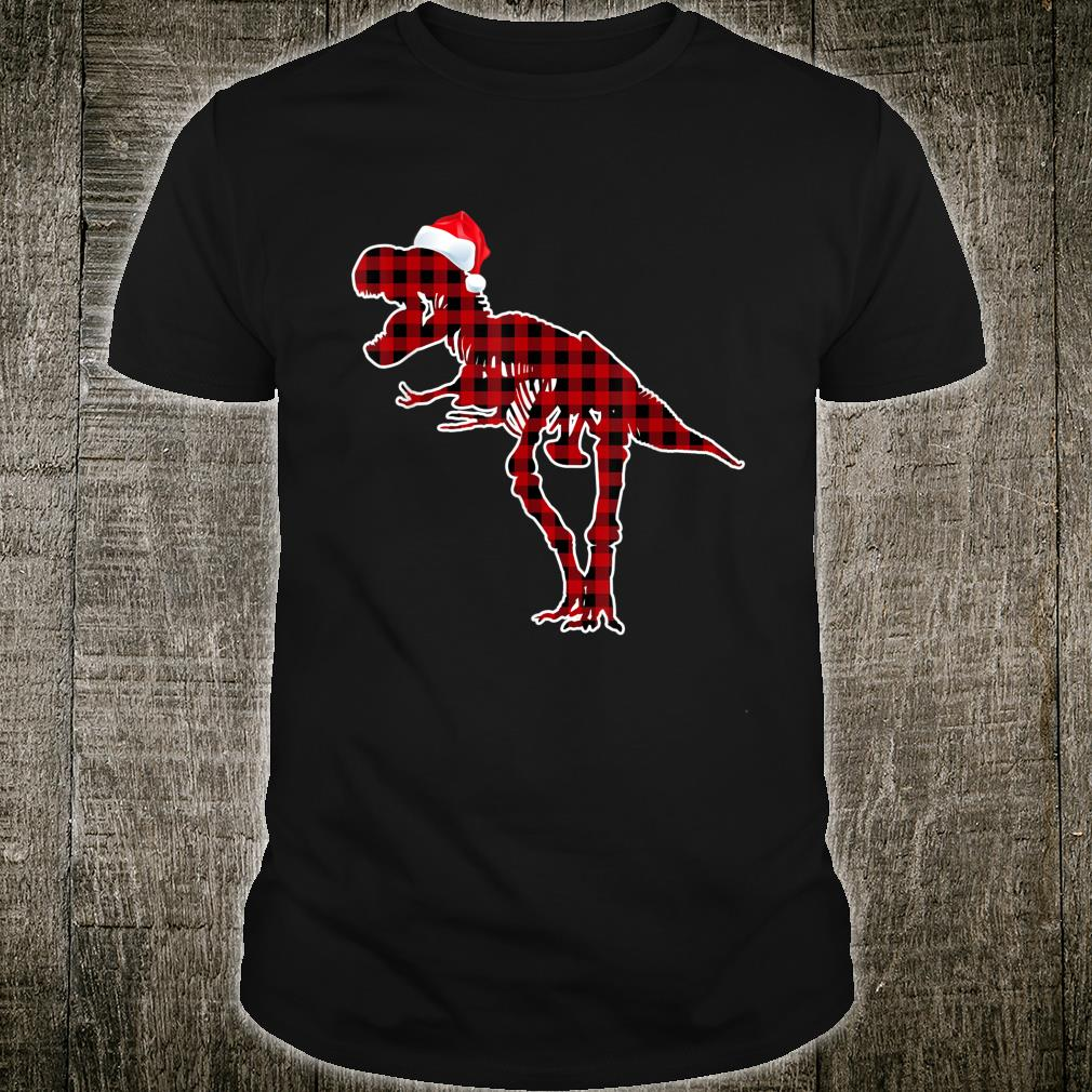 Funny Skeleton Dinosaur Christmas Pajamas T Rex Xmas Shirt