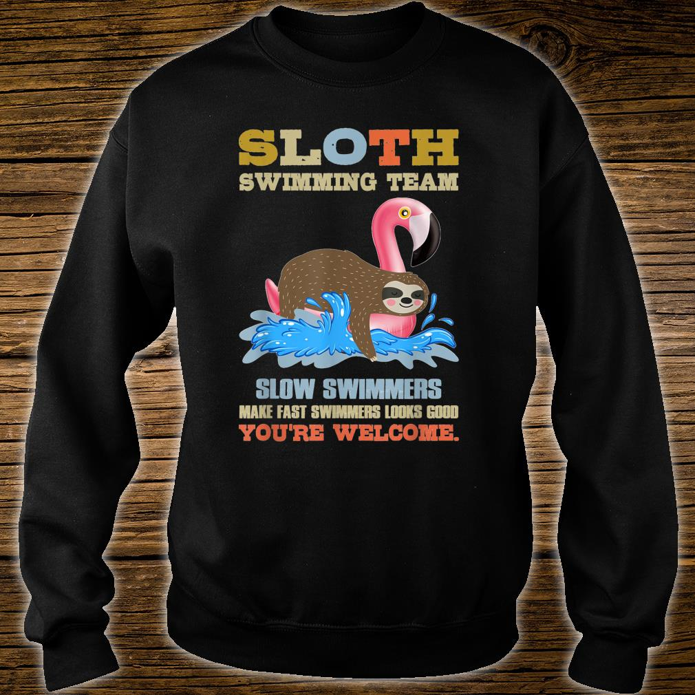 Funny Sloth Sloth Swimming Team Cool Design Shirt sweater