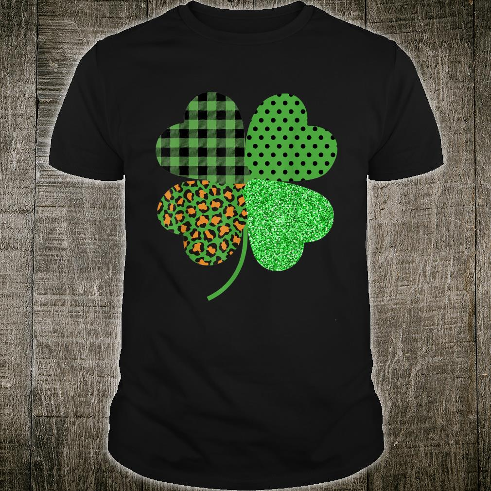 Funny St Patrick's Day Irish Leopard Green Plaid Shamrock Shirt