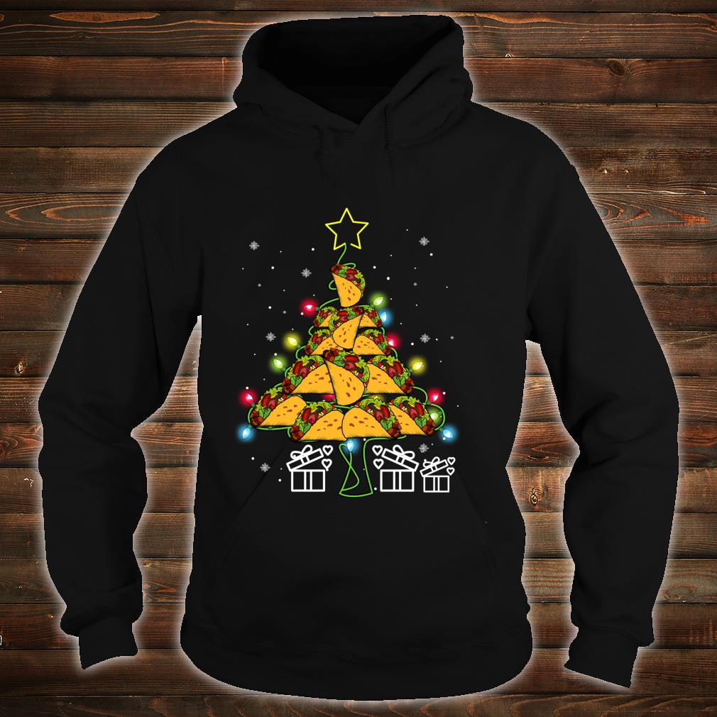 Funny Tacos Christmas Tree Lights Ugly Christmas Shirt hoodie