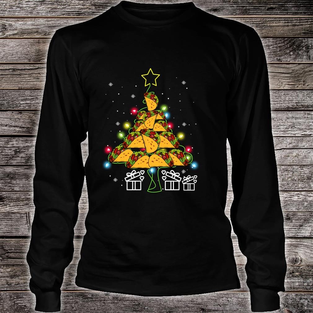 Funny Tacos Christmas Tree Lights Ugly Christmas Shirt long sleeved