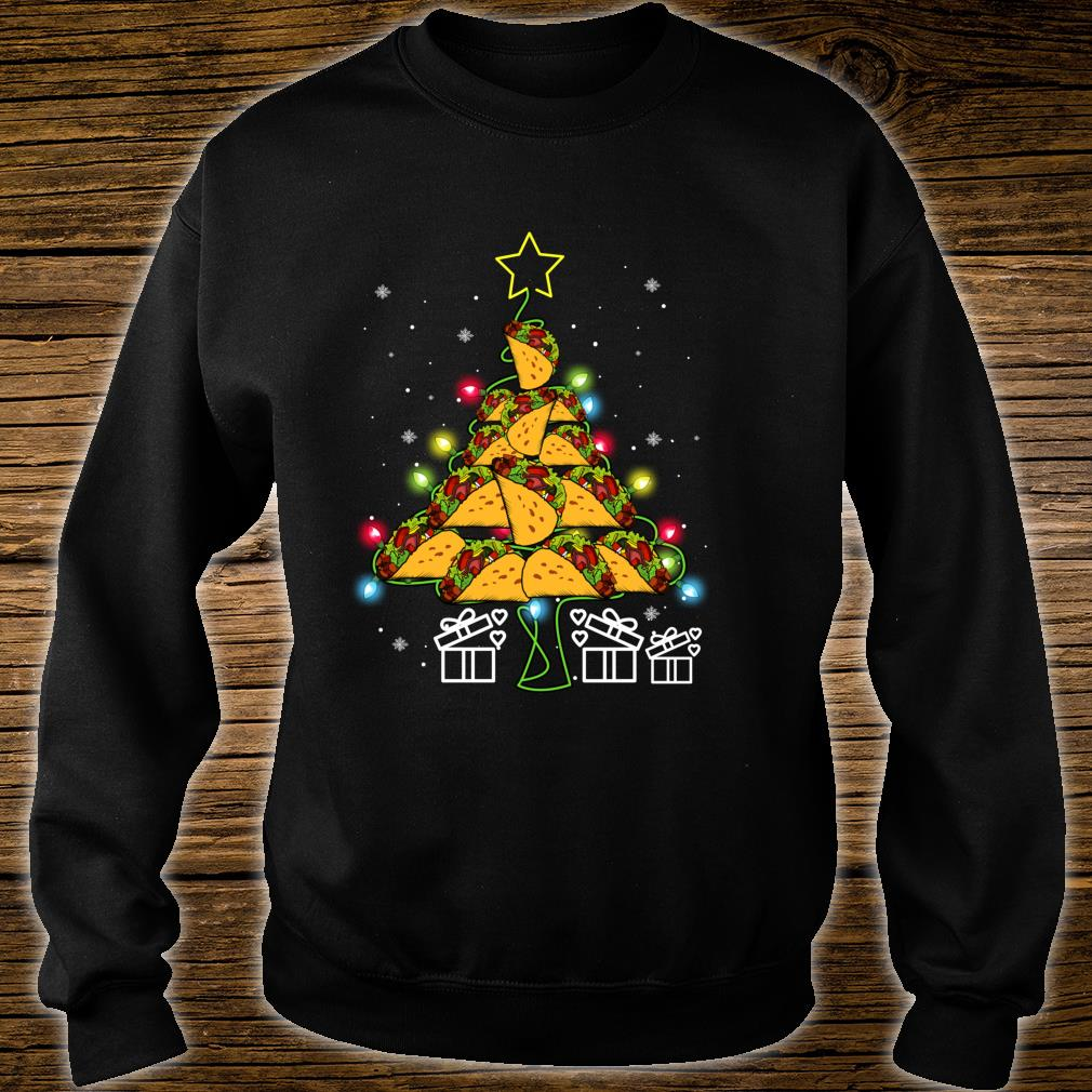 Funny Tacos Christmas Tree Lights Ugly Christmas Shirt sweater