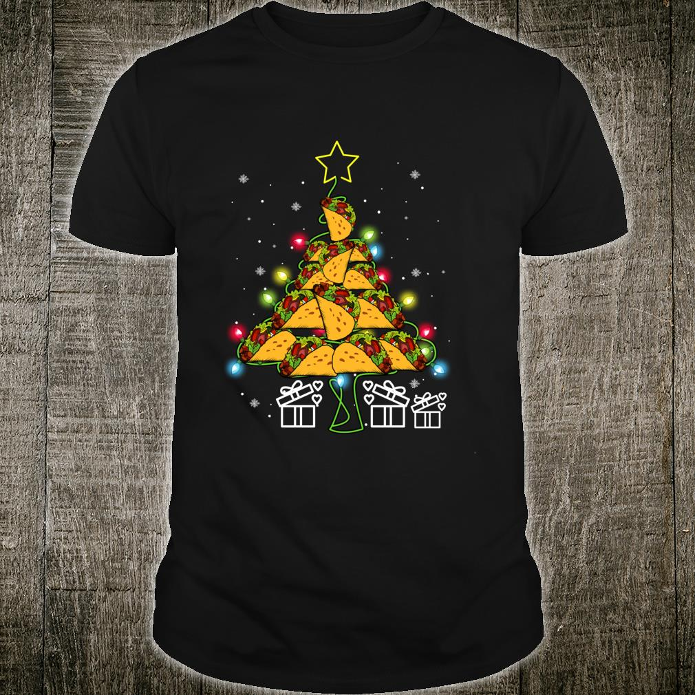 Funny Tacos Christmas Tree Lights Ugly Christmas Shirt