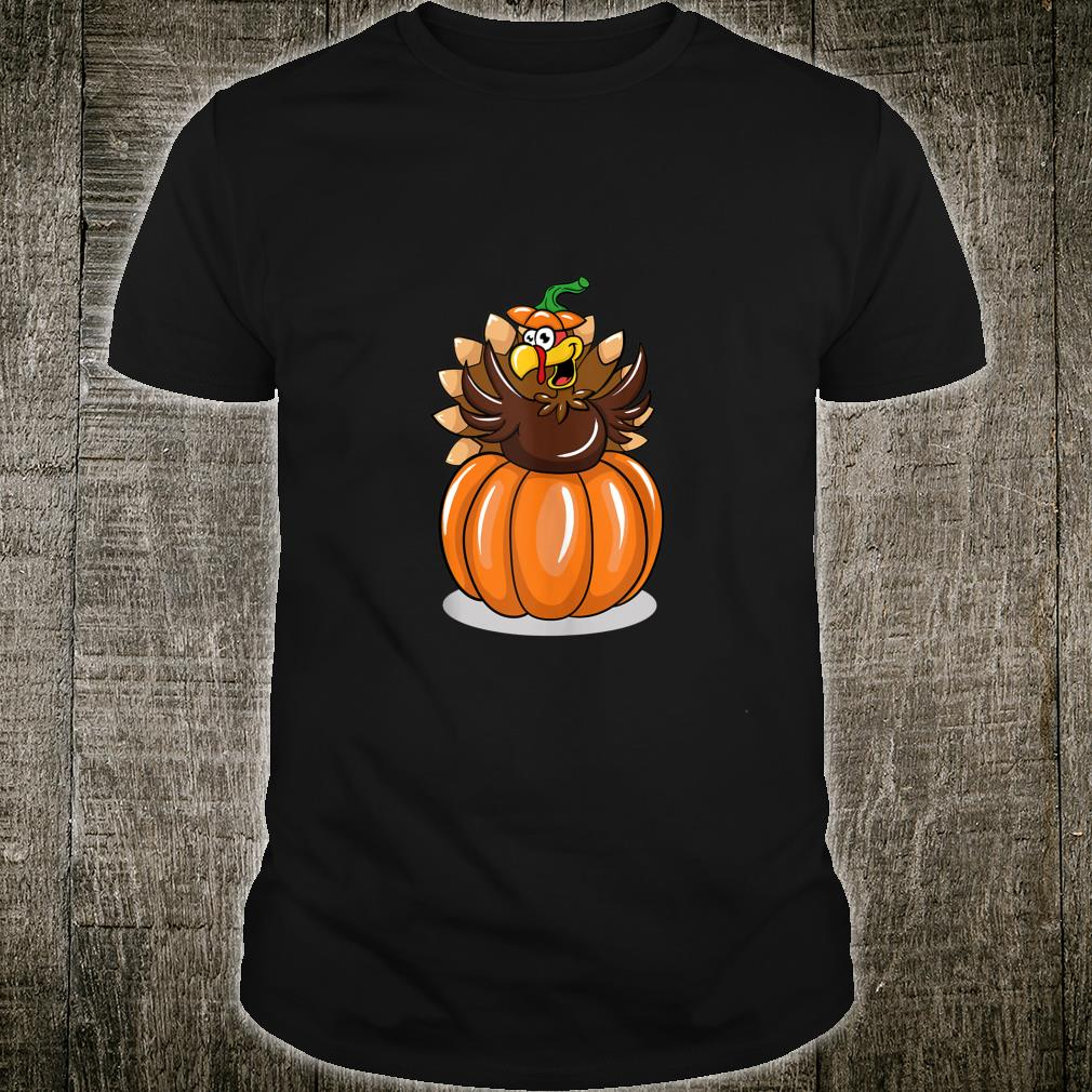 Funny Turkey Popping Out Of A Pumpkin Shirt