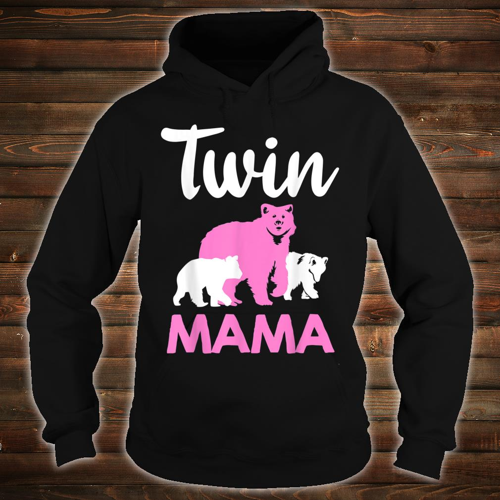Funny Twin Mom Mother Cool Mama Bear And Cubs Shirt hoodie