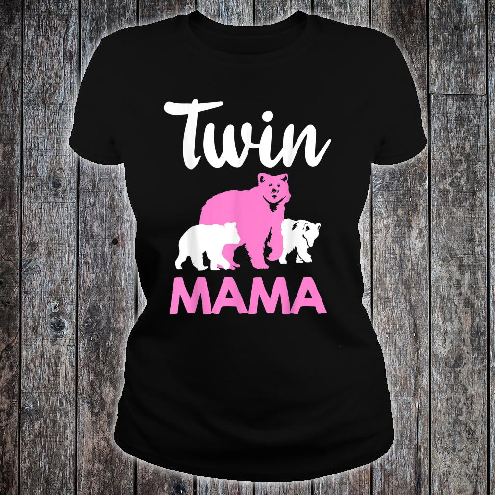 Funny Twin Mom Mother Cool Mama Bear And Cubs Shirt ladies tee