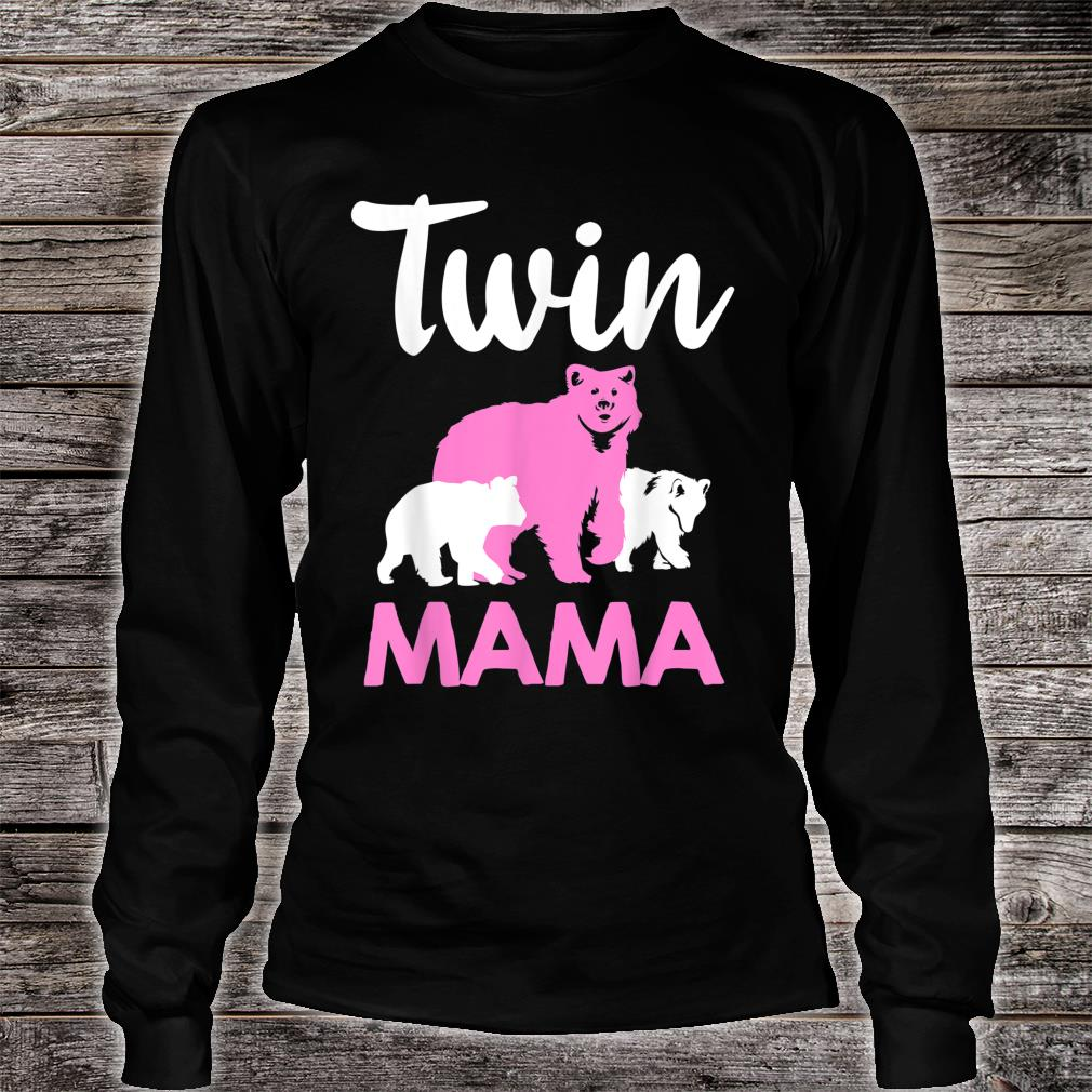 Funny Twin Mom Mother Cool Mama Bear And Cubs Shirt long sleeved